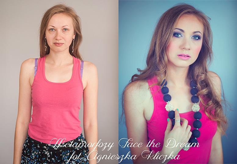 Metamorfoza nr  17, Modelka: Karolina Grelik, Wizaż: Ewelina Wadowska.