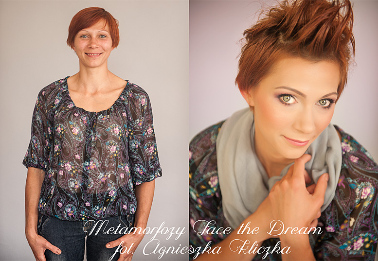 Metamorfoza nr  18 Modelka: Joanna Zawada, Wizaż: Ewelina Wadowska,