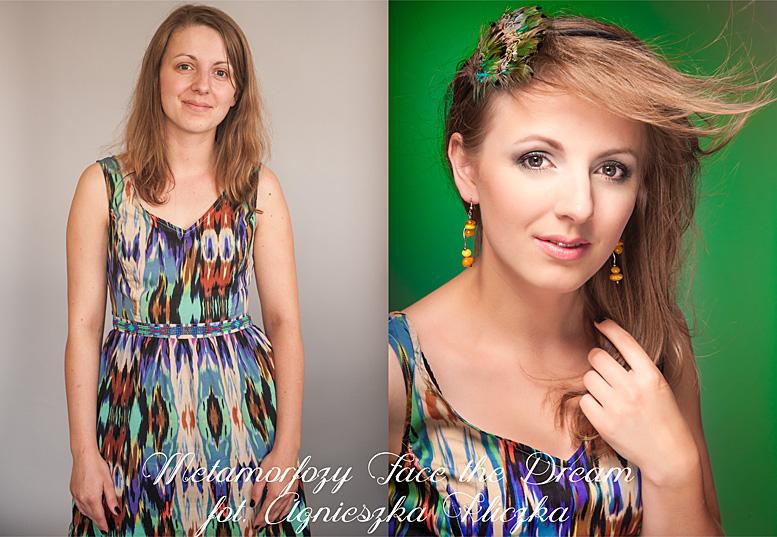 Metamorfoza nr  26, Modelka: Elżbieta Smolarz, Wizaż: Anna Skoczylas.