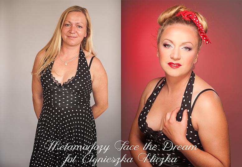 Metamorfoza nr  25 Modelka: Teresa Smolarz, Wizaż: Ewelina Wadowska.