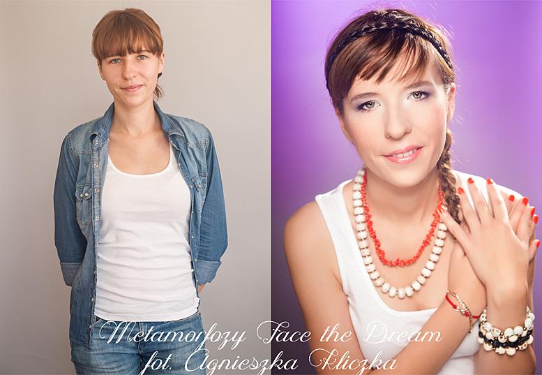 Metamorfoza nr  3 Modelka: Basia Lewandowska, Wizaż: Agata Dymel-Mikiciuk Studio wizażu i stylizacji ARTFACE