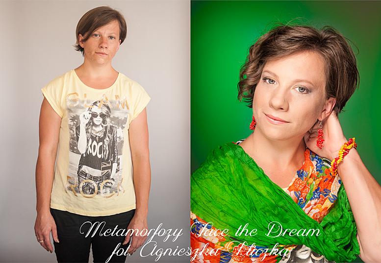 Metamorfoza nr  24, Modelka: Monika Kasperek, Wizaż: Agata Dymel-Mikiciuk (Studio wizażu i stylizacji ARTFACE)