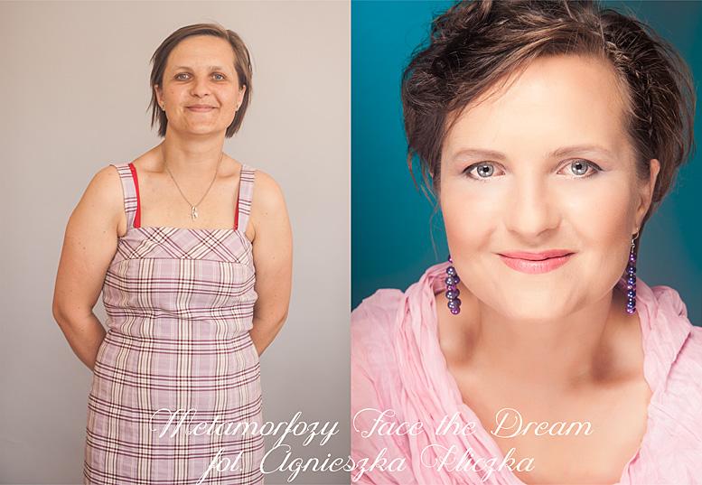 Metamorfoza nr  6, Modelka: Katarzyna Bakun, Wizaż: