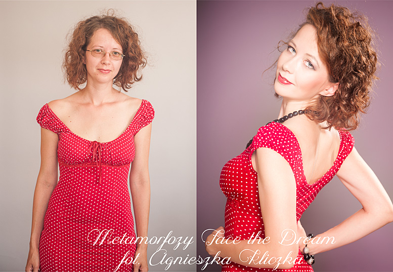 Metamorfoza nr  9 Modelka: Małgorzata Kucharczyk-Król Wizaż: Ilona Szalak