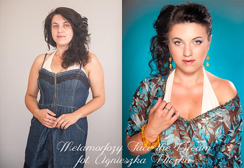 Metamorfoza nr  10 Modelka: Aneta Gołąb, Wizaż: Agata Dymel-Mikiciuk (Studio wizażu i stylizacji ARTFACE).